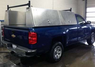 Checkerplate High Side Pack in Blue Chevy Truck