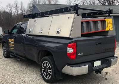 Smooth Aluminum X-Pro High Side Pack in a Black Toyota Truck